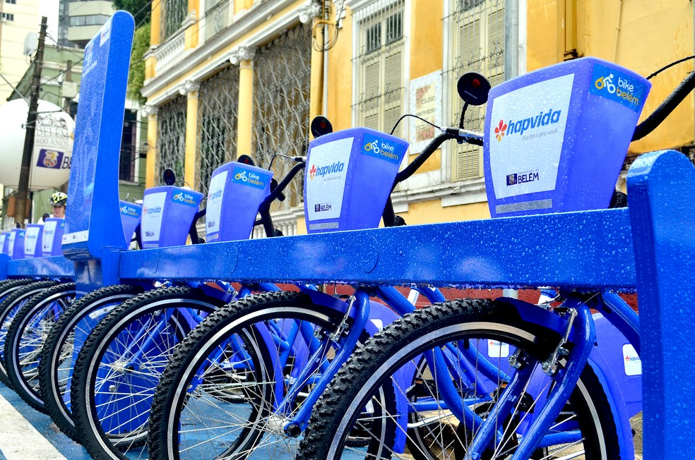 Projeto Bike Belém na capital do Pará — Foto: Tássia Barros/ Comus