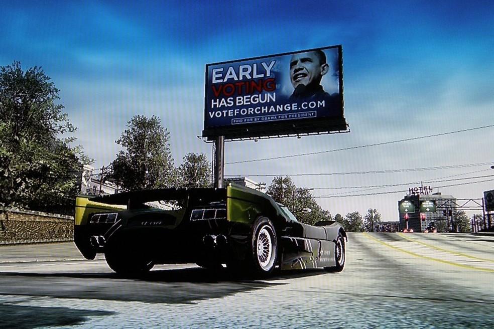Burnout Paradise tinha propagandas da vida real dentro do jogo (Foto: Reprodução/GameSpot)