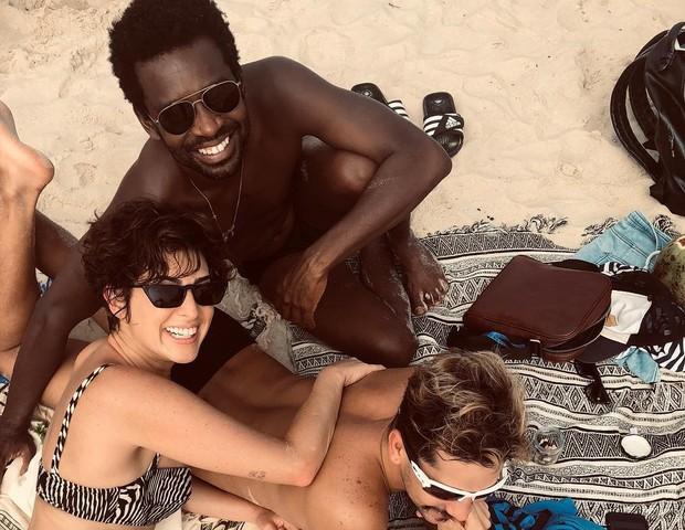 Fernanda Paes Leme, Fabricio Boliveira e Caio Braz (Foto: Reprodução/Instagram)