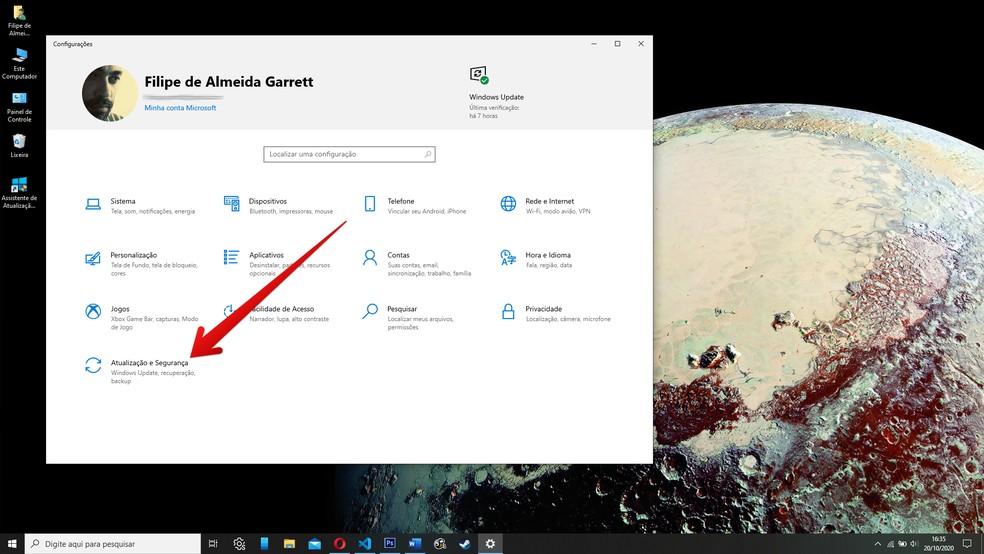 Use a ferramenta de atualizações do Windows 10 — Foto: Reprodução/Filipe Garrett