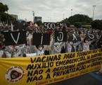 Manifestação contra Bolsonaro e pela vacina no Centro do Rio | Guito Moreto/Agência O Globo