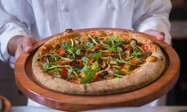 Pizza vegana da Bráz