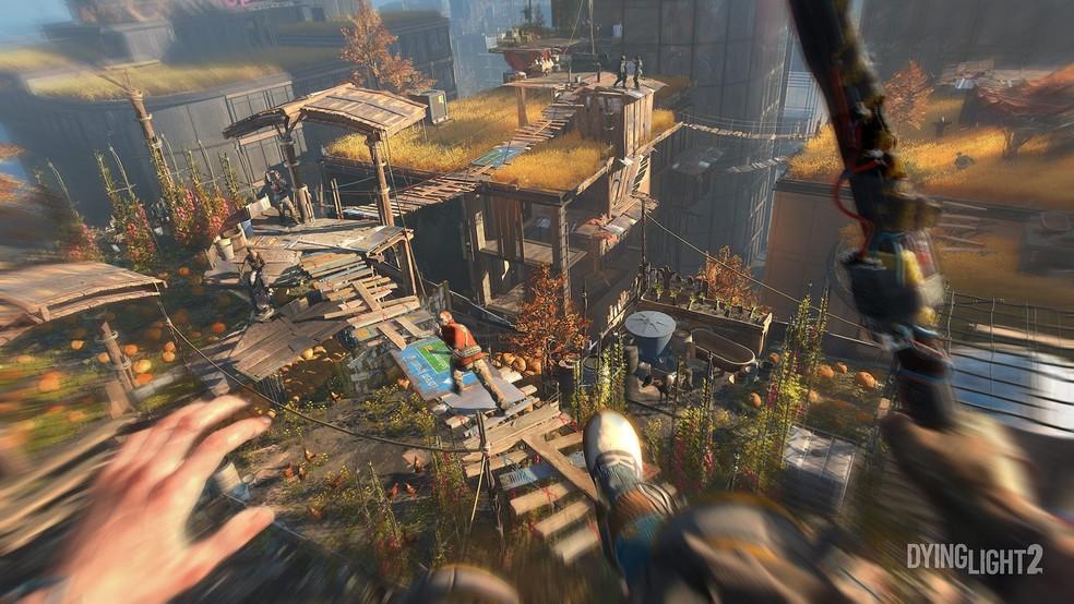 Técnicas de parkour serão usadas para se locomover e atacar inimigos em Dying Light 2 — Foto: Divulgação/Techland