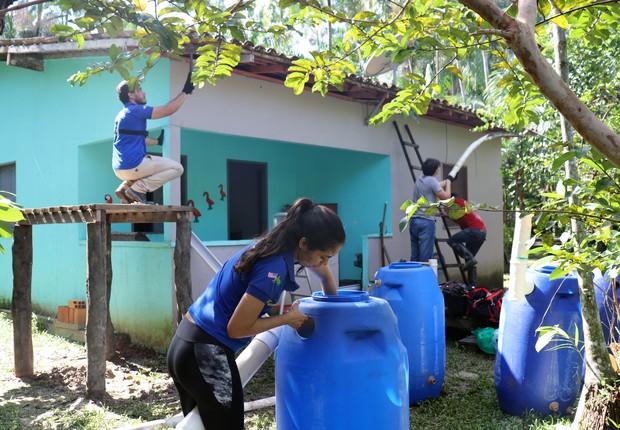 A Amana Katu, do Pará, transforma água de chuva em água potável (Foto: Divulgação)