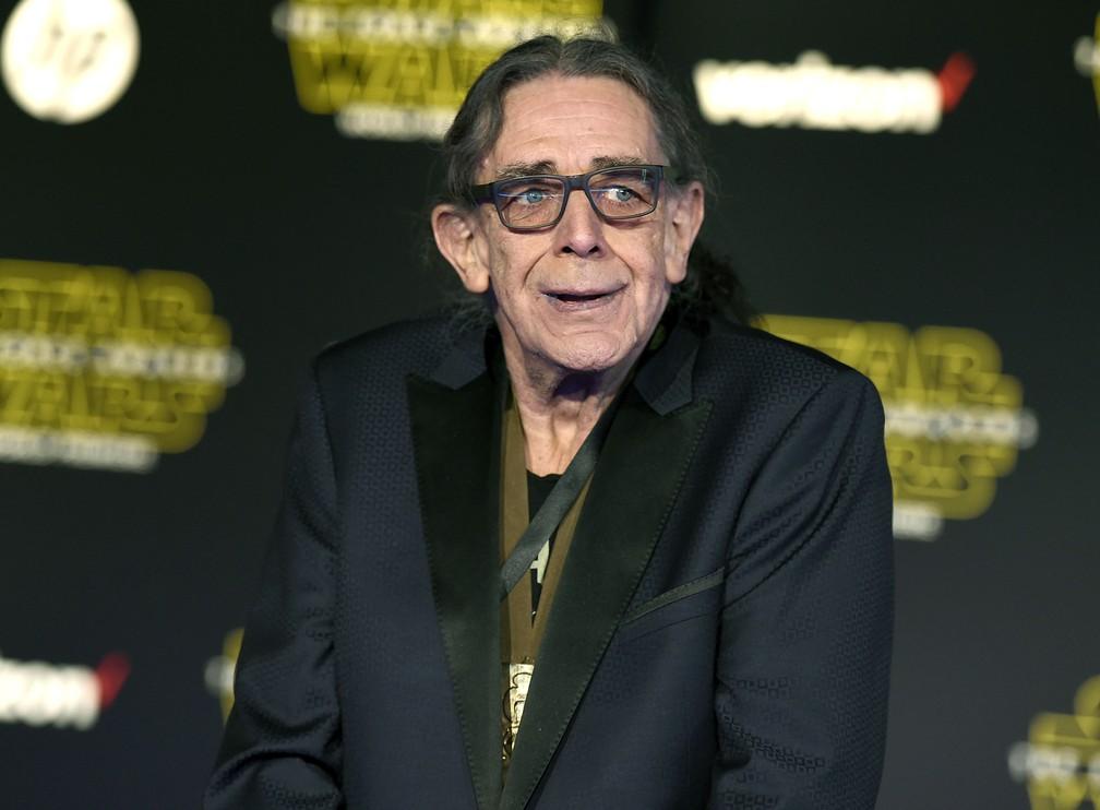 Peter Mayhew chega à estreia de 'Star Wars: O despertar da Força', em Los Angeles — Foto: Jordan Strauss/Invision/AP