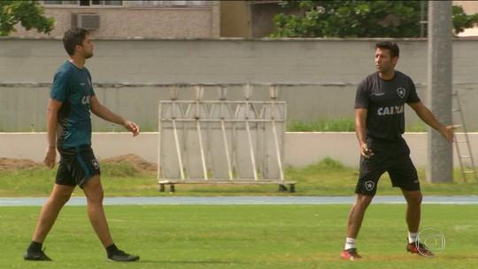 Botafogo se acostuma com jeitão do novo treinador, Valentim
