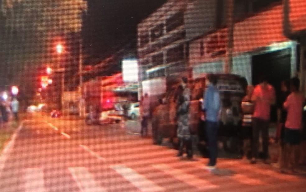 Crime aconteceu após soldado sair de academia em Goiânia, Goiás — Foto: Reprodução/ TV Anhanguera