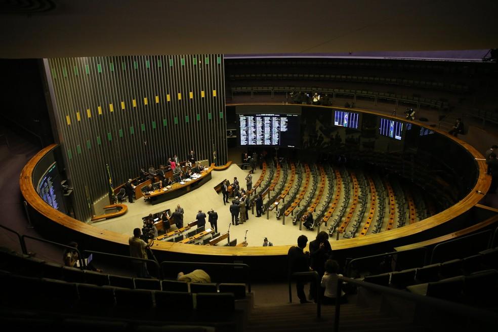 Plenário da Câmara dos Deputados, em Brasília — Foto: José Cruz/Agência Brasil