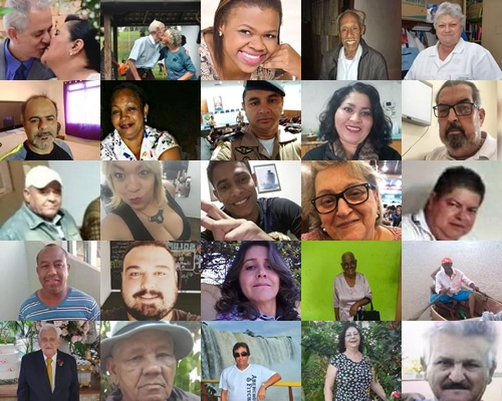 Rostos e histórias por trás dos números: algumas vítimas do novo coronavírus em Minas Gerais. — Foto: Arquivo pessoal