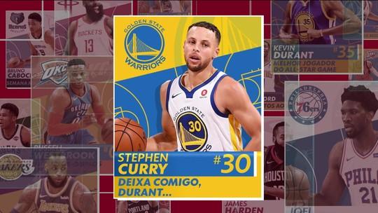 Stephen Curry leva a melhor em duelo de irmãos na final do Oeste e é o cara da semana da NBA