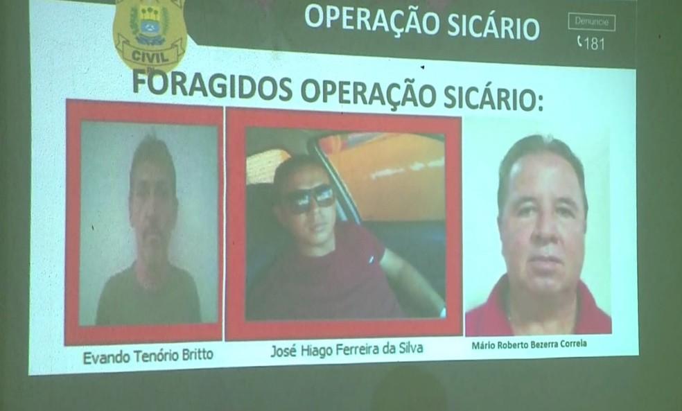 Três suspeitos da morte do empresário no Piauí estão foragidos — Foto: Reprodução/Polícia Civil