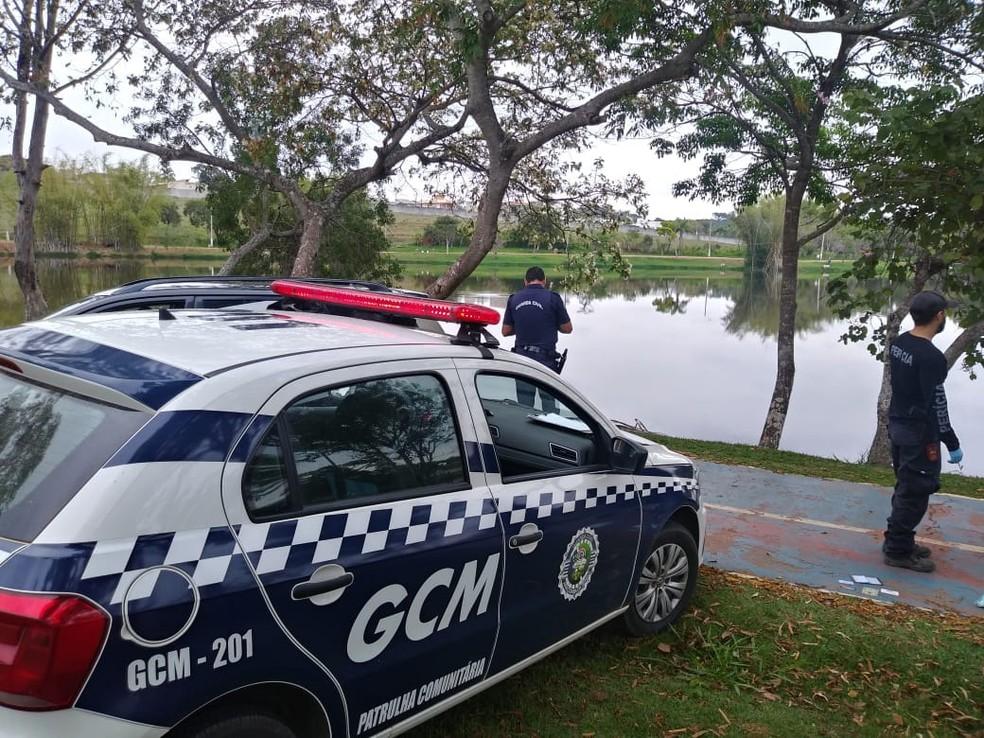 GCM encontrou corpo em Araçoiaba da Serra — Foto: Guarda Civil Municipal/Divulgação