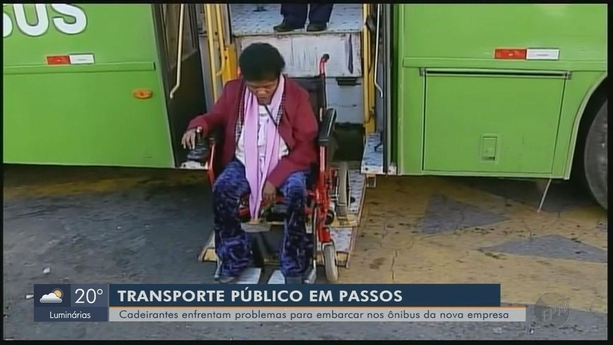Resultado de imagem para Cadeirantes enfrentam problemas com novos ônibus do transporte público em Passos (MG)