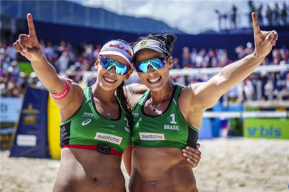 Ágatha e Duda conquistam etapa de Gstaad — Foto: FIVB