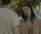 Paolla Oliveira e Sergio Guizé em cena de 'A dona do pedaço' | Reprodução