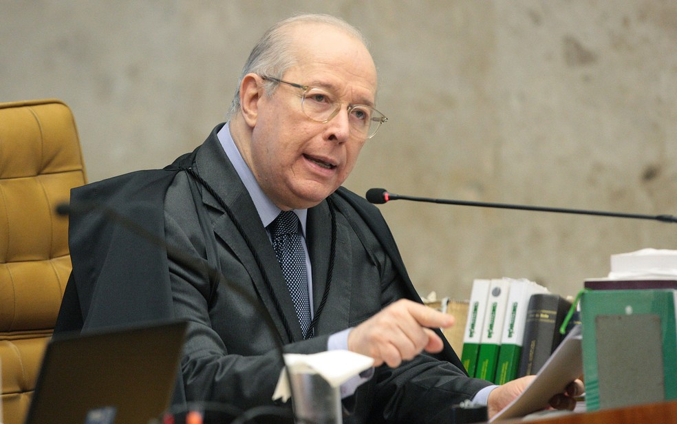 Ministro Celso de Mello comenta censura de Crivella — Foto: Carlos Moura/SCO/STF