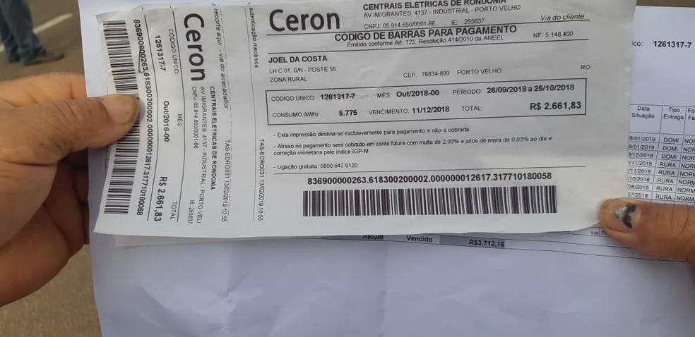 Idoso teve conta aumentada de menos de R$ 50 para mais de R$ 2 mil — Foto: Toni Francis/G1
