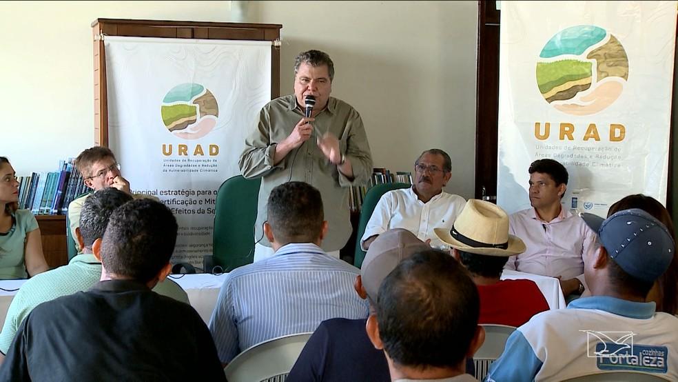Ministro Sarney Filho participou do lançamento do projeto em Barreirinhas, onde ficará o segundo escritório da FAP no Brasil (Foto: Reprodução/TV Mirante)