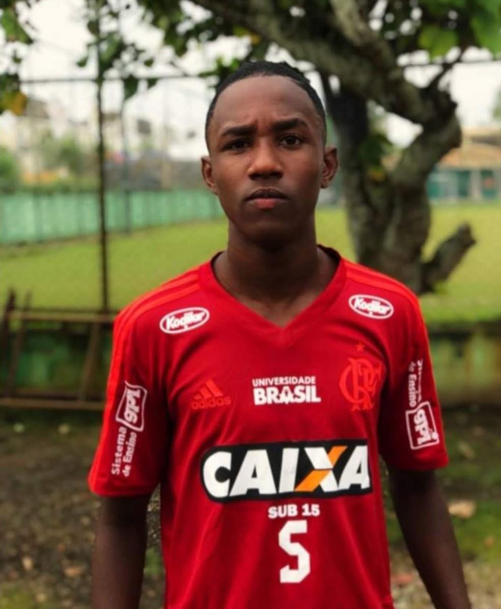 João Pedro da Cruz, do time Sub 15 do Flamengo â?? Foto: Reprodução/Facebook
