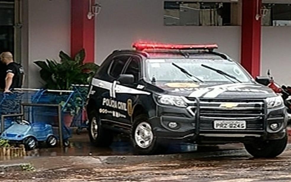 Força-tarefa cumpriu mandados em quatro endereços em Jataí e Goiânia — Foto: TV Anhanguera/Reprodução