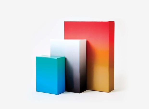 O Gradient Puzzle nas versões de 100, 500 e 1000 peças (Foto: Areaware/Reprodução )