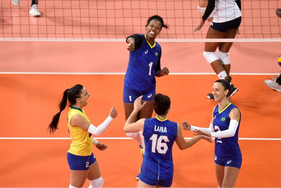 Brasil elimina Estados Unidos, atual campeão do Pan, e garante vaga suada nas semifinais — Foto: Victor Calvo