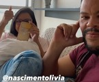 Babu Santana com a namorada | Reprodução