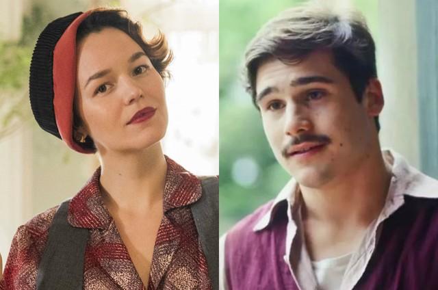 Joana de Verona e Nicolas Prattes como Adelaide e Alfredo em 'Éramos seis' (Foto: TV Globo)