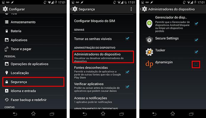 Torne o app um administrador do sistema (Foto: Reprodução/Paulo Alves)