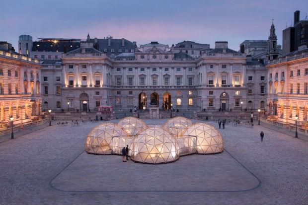Cúpulas proporcionam a poluição do ar de cinco cidades globais - incluindo São Paulo (Foto: Somesert House / Peter Macdiarmid)