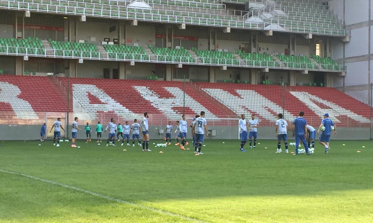 3601a6fcc8 Palmeiras treina em Belo Horizonte com retorno de titulares