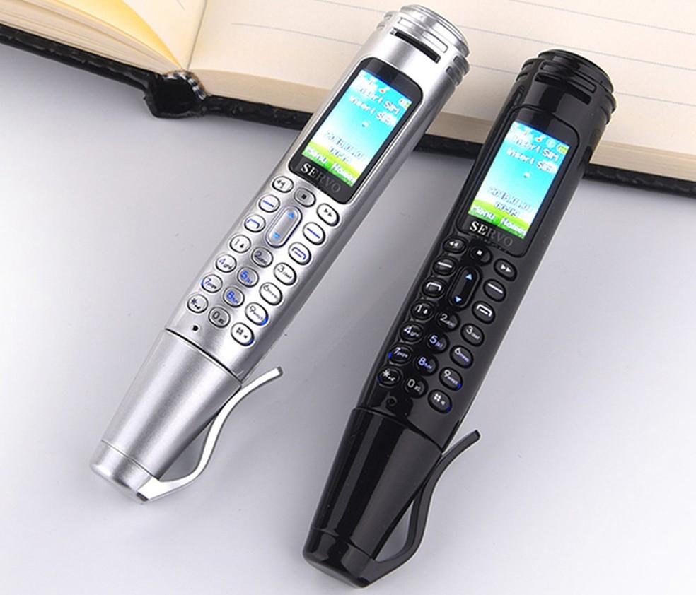 Servo K07 é um celular e caneta no mesmo corpo — Foto: Reprodução/GizMochina