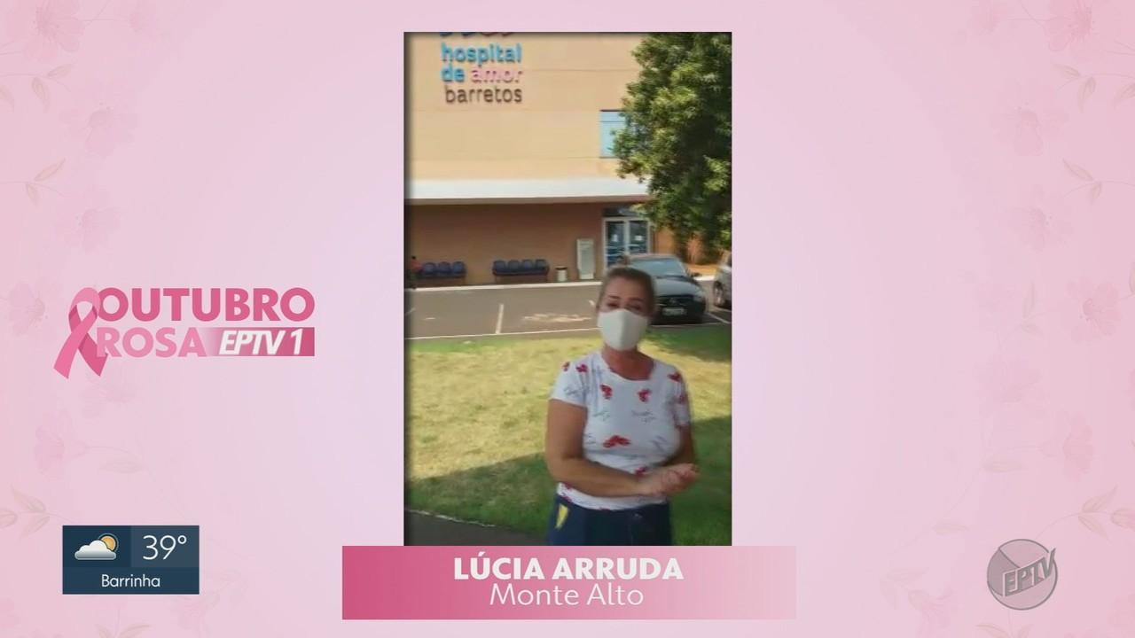 Outubro Rosa no EPTV1: Conheça a história da Lucia Arruda