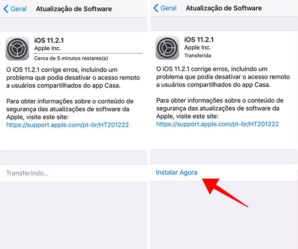 Instale a atualização no iPhone  (Foto: Reprodução/Paulo Alves)