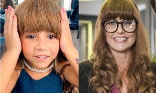 Maria Flor, filha de Deborah Secco, usou sua peruca nos bastidores de uma participação em 'Salve-se quem puder': 'Ela está muito ansiosa para se ver na TV' | Reprodução