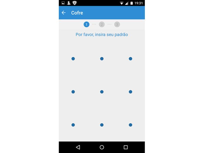 Definindo a senha padrão no PSafe Total para Android (Foto: Reprodução/Teresa Furtado)
