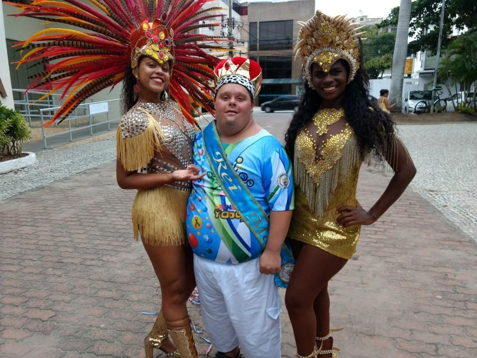 Carlos Augusto, rei momo do carnaval 2019 em Cabo Frio, RJ, vai receber chave da cidade — Foto: Projeto Carnaval Para Todos / Divulgação