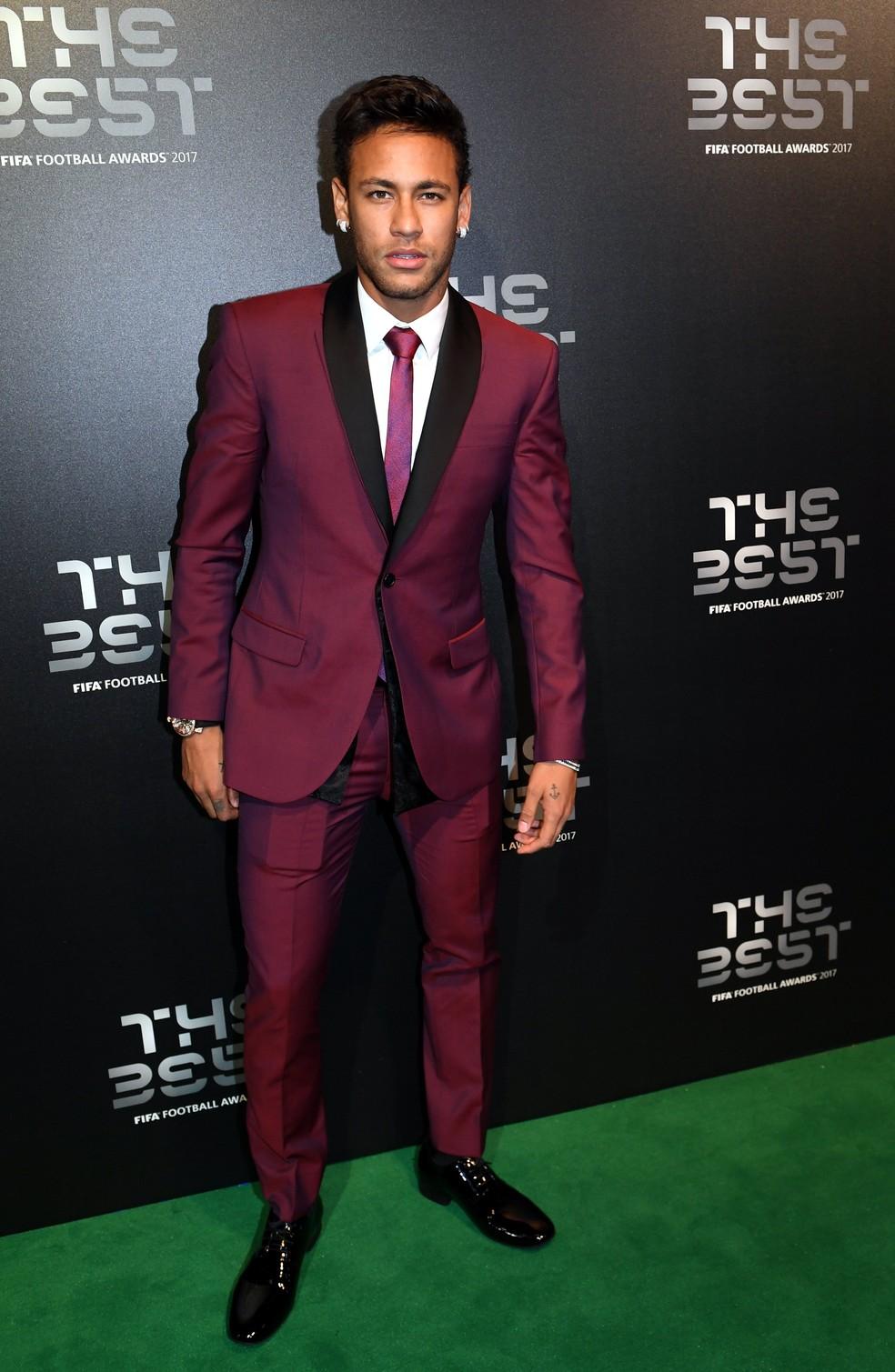 Neymar ficou em terceiro lugar pela segunda vez em três anos (Foto: EFE)