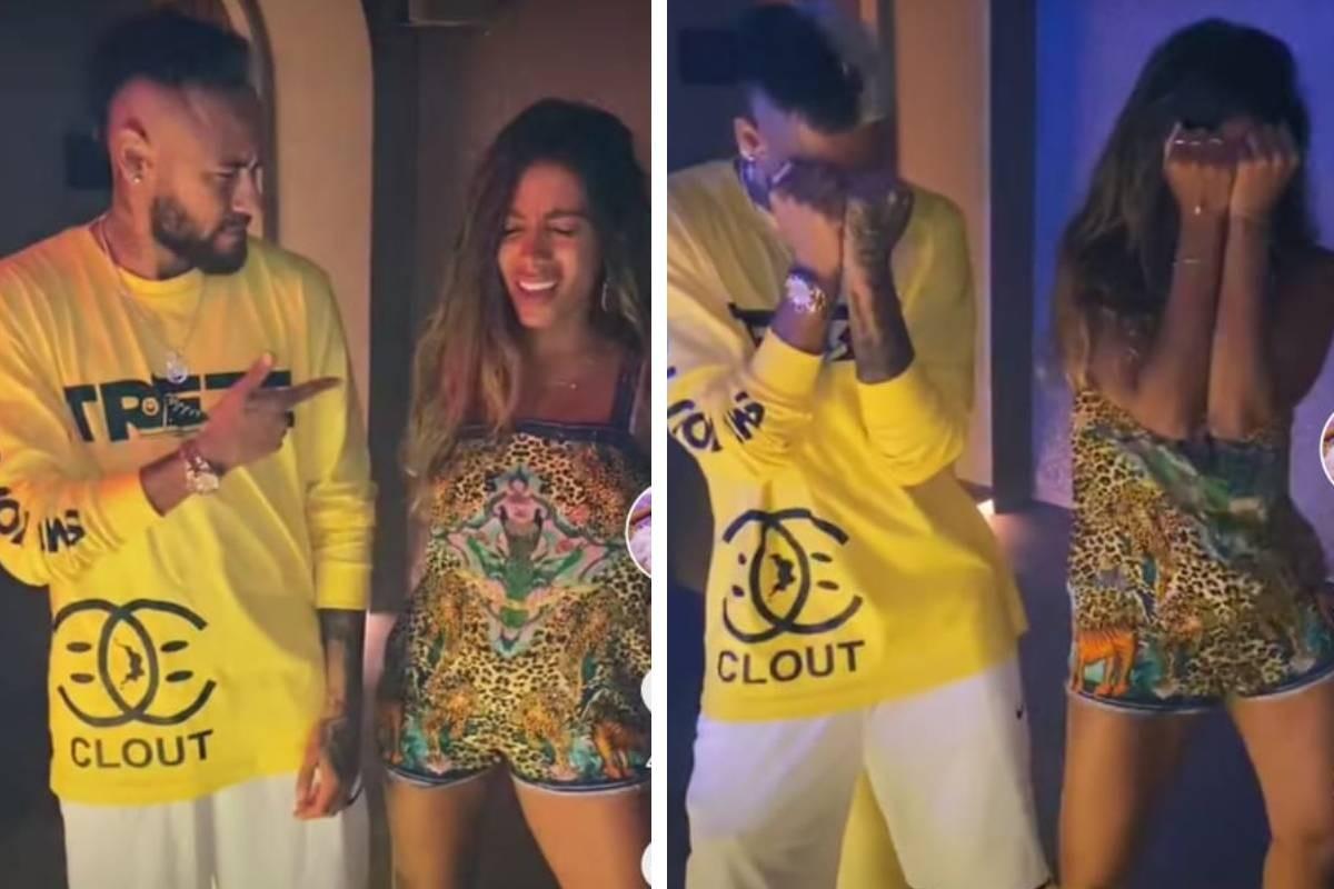 Neymar e Anitta (Foto: Reprodução/TikTok)