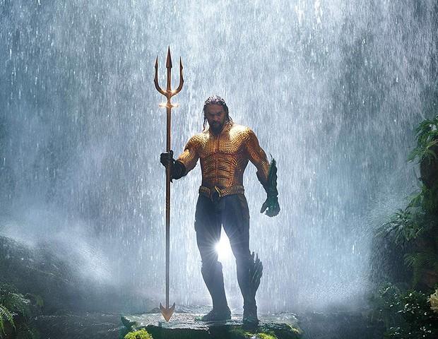 Jason Momoa em Aquaman (Foto: Divulgação)