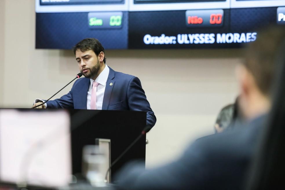 Deputado estadual Ulysses Moraes (DC) é autor do projeto — Foto: Marcos Lopes/ALMT