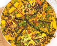 Como fazer paella vegana de legumes