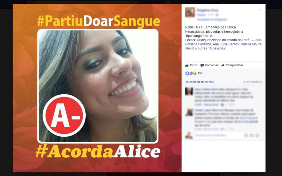 Campanha iniciada nas redes sociais mobilizou muitas pessoas em Santarém (Foto: Reprodução/Redes Sociais)