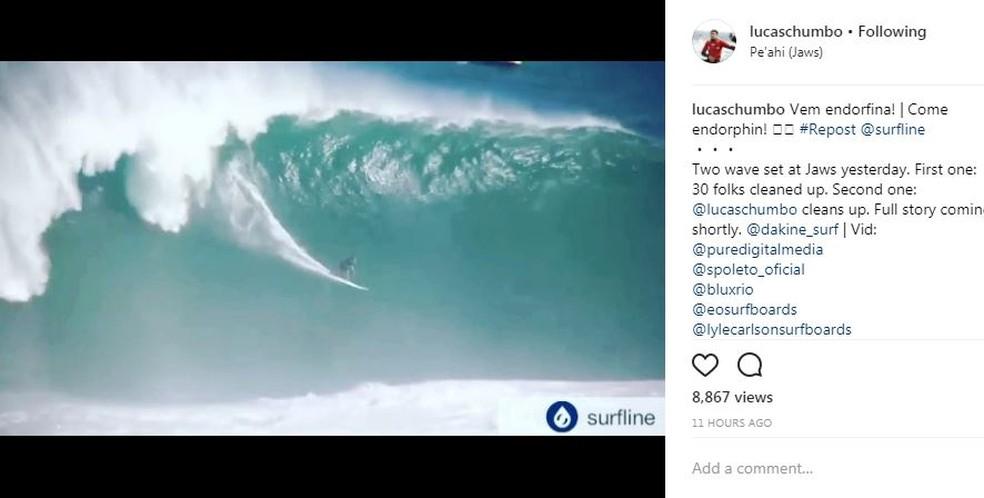 Lucas Chianca ganhou destaque da mídia especializada no exterior (Foto: Reprodução/Instagram)