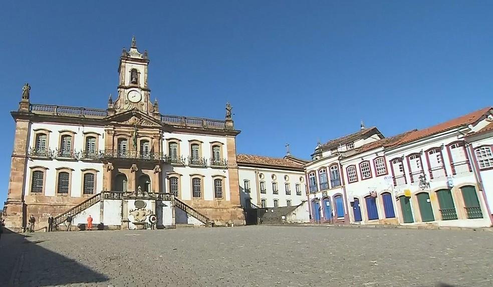 Ouro Preto estava com 100% dos leitos de UTI ocupados nesta quarta — Foto: Reprodução/TV Globo