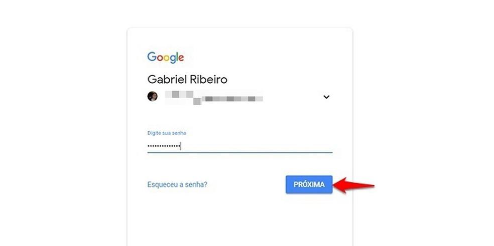 Digite seu login e senha de acesso — Foto: Reprodução/Gabriel Ribeiro