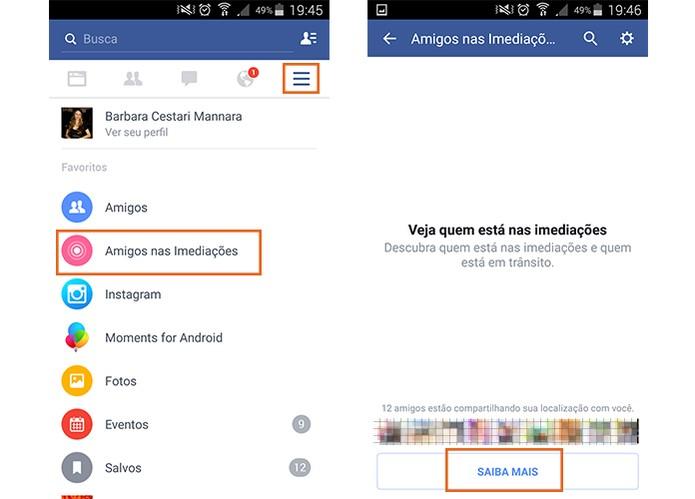Acesse a ferramenta no app do Facebook pelo Android (Foto: Reprodução/Barbara Mannara)