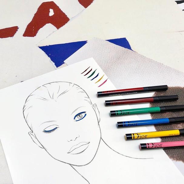 Nova coleção de lápis da Dior Make Up (Foto: Reprodução/Instagram)