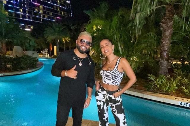 Alex Sensation e Anitta na Flórida, Estados Unidos (Foto: Reprodução)