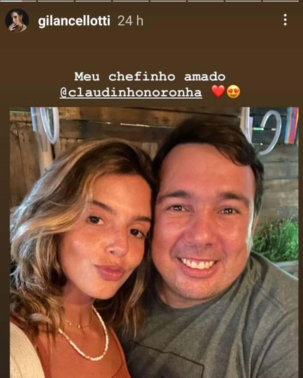 Giovanna postou foto com o empresário Cláudio Xavier  — Foto: Reprodução/Instagram